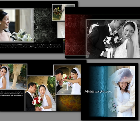 arc4studio wedding albums templates