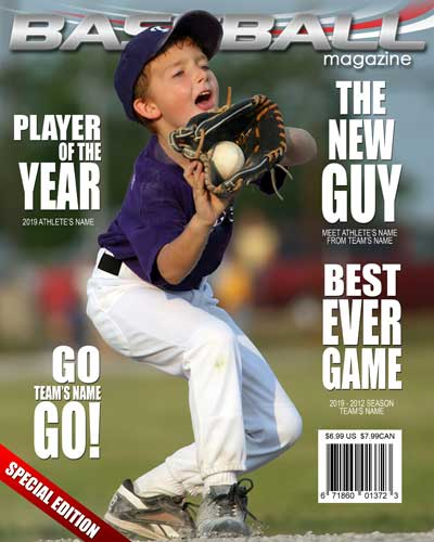 custom magazine cover templates - baseball magazine cover arc4studio photoshop