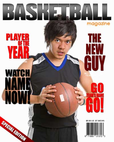 Basketball Magazine Cover - $7.50 : ARC4Studio | Photoshop ...