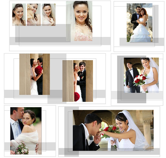 Album custom templates arc4studio for Wedding photo album templates in photoshop