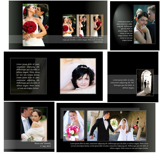 Classic style wedding album templates arc4studio for Wedding photo album templates in photoshop
