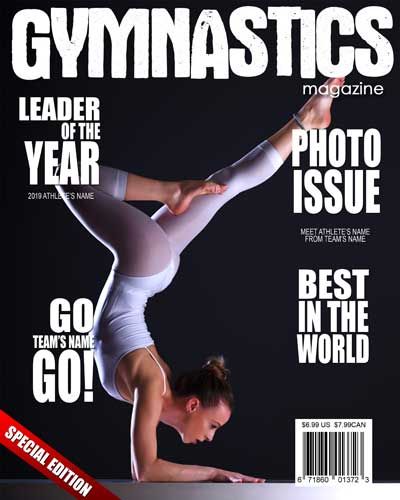 Gymnastics Magazine Cover - $7.50 : ARC4Studio | Photoshop ...