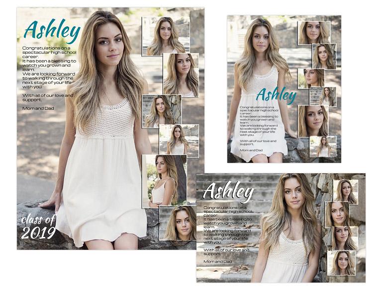 Seniors Ads Yearbook Templates April ARC4Studio