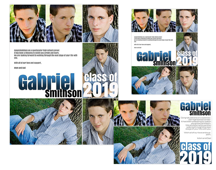 Seniors ads yearbook templates gabriel for Yearbook ad templates free