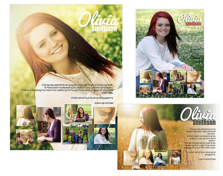 Seniors ads yearbook templates olivia for Yearbook ad templates free