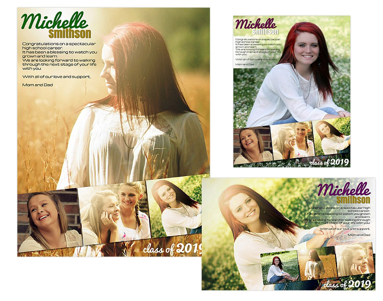 yearbook ad templates free - seniors ads yearbook templates michelle