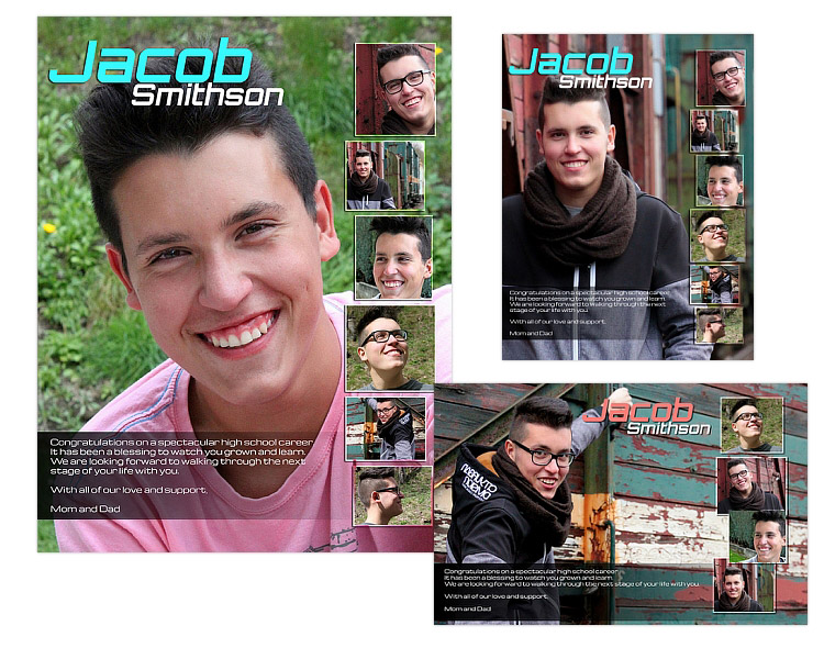 Seniors Ads Yearbook Templates - Jacob - $14.99 : ARC4Studio ...