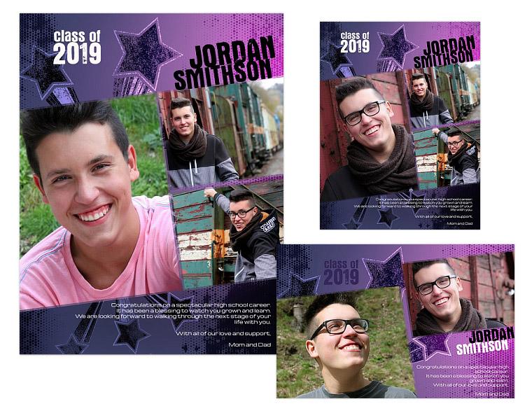 Seniors Ads Yearbook Templates - Ryan - $14.99 : ARC4Studio ...
