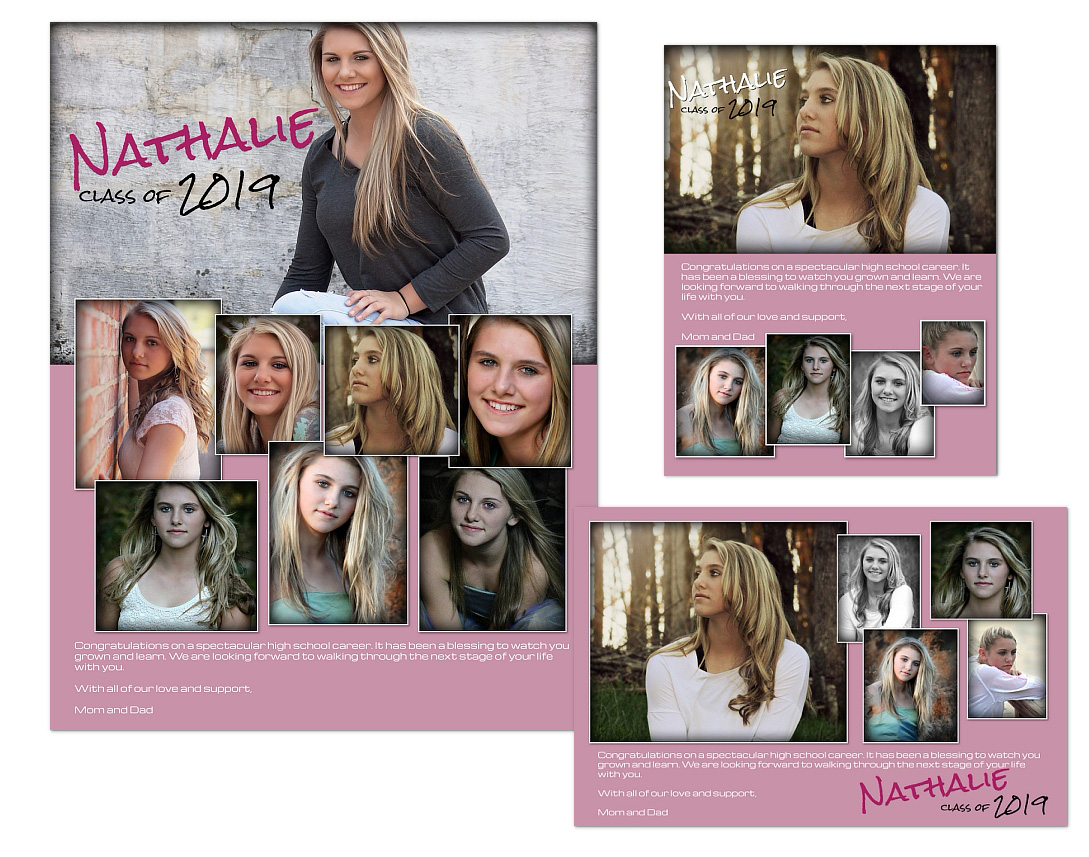 yearbook ads templates nathalie arc4studio photoshop templates for photographers. Black Bedroom Furniture Sets. Home Design Ideas