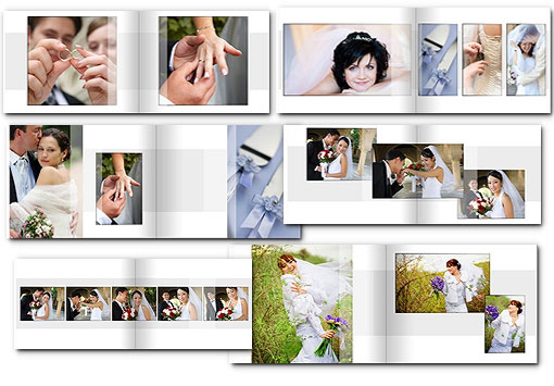 14x11 wedding album templates arc4studio for Wedding photo album templates in photoshop