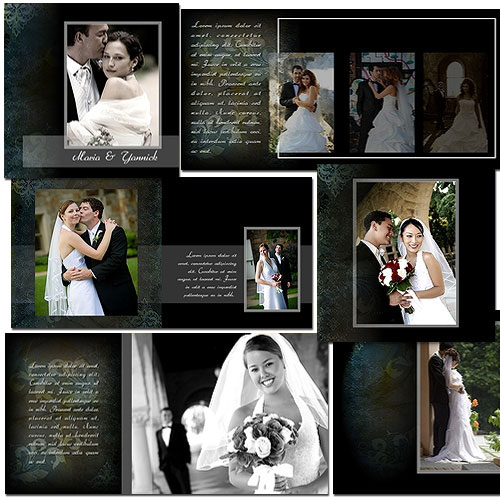 Elegant wedding album templates arc4studio for Wedding photo album templates in photoshop