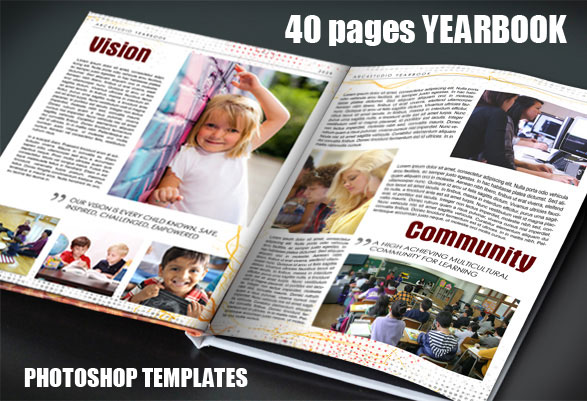 Yearbook Photoshop Templates