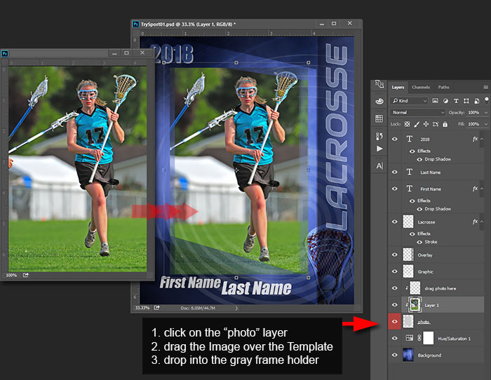 sport photo templates