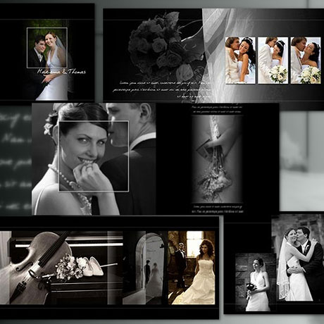 Pro 12x12 wedding album templates arc4studio for Wedding photo album templates in photoshop