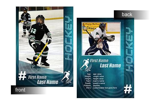 how to make a hockey card
